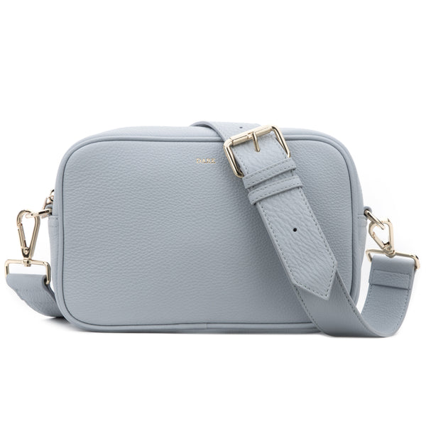 LEATHER BOX BAG COOL BLUE