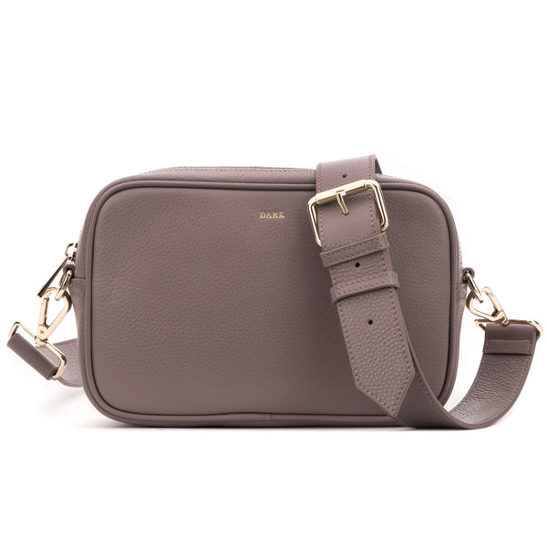 LEATHER BOX BAG DUSTY GRAPE