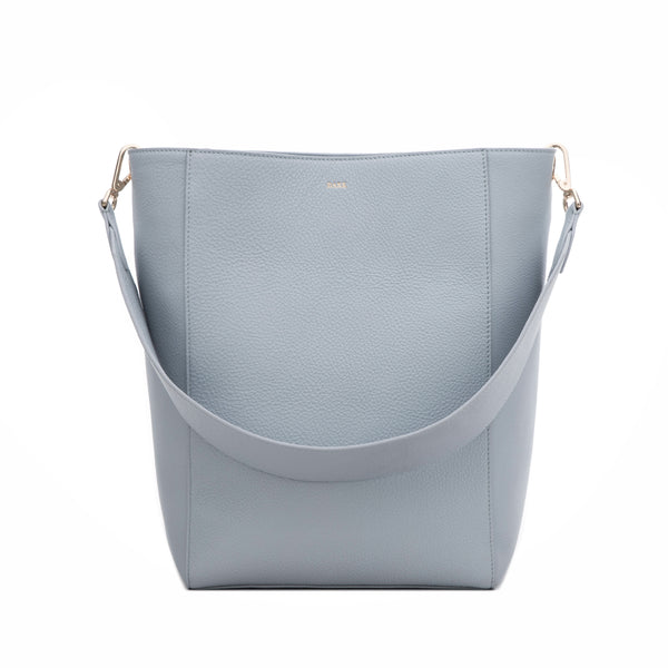LEATHER BUCKET BAG COOL BLUE