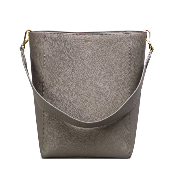 LEATHER BUCKET BAG DARK TAUPE