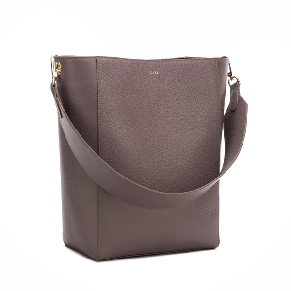 LEATHER BUCKET BAG DUSTY GRAPE