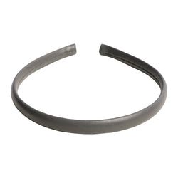 LEATHER HAIR BAND THIN DARK GREY
