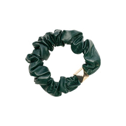 LEATHER MINI SCRUNCHIE PINE