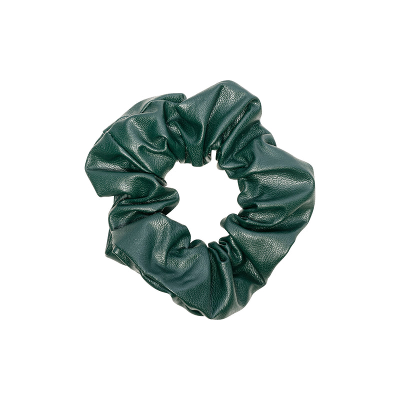 LEATHER SCRUNCHIE PINE