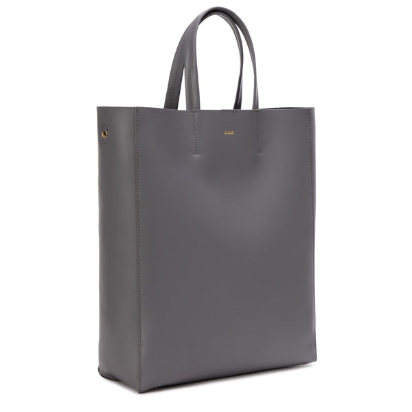 LEATHER TOTE NAPPA DARK GREY