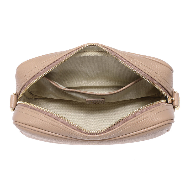 LEATHER BOX BAG CAMEL