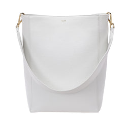 LEATHER BUCKET BAG WHITE