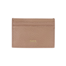 LEATHER CARD HOLDER CAMEL