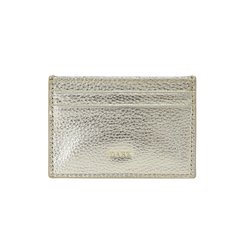 LEATHER CARD HOLDER GOLD