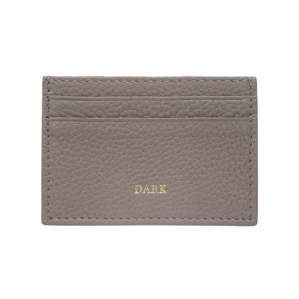LEATHER CARD HOLDER GREY