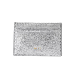 LEATHER CARD HOLDER SILVER