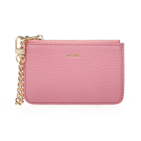 LEATHER COIN POUCH PALE PINK