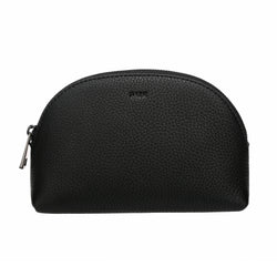 LEATHER MAKE-UP POUCH BLACK W/GUN