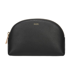 LEATHER MAKE-UP POUCH DARK GREY
