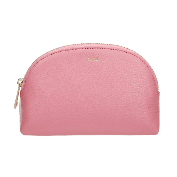 LEATHER MAKE-UP POUCH PALE PINK