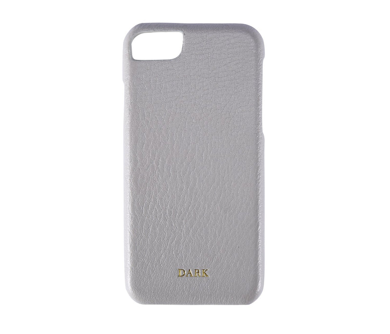 LEATHER IPHONE COVER LIGHT GREY