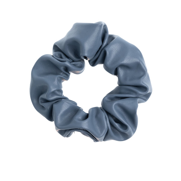 LEATHER SCRUNCHIE 501 BLUE
