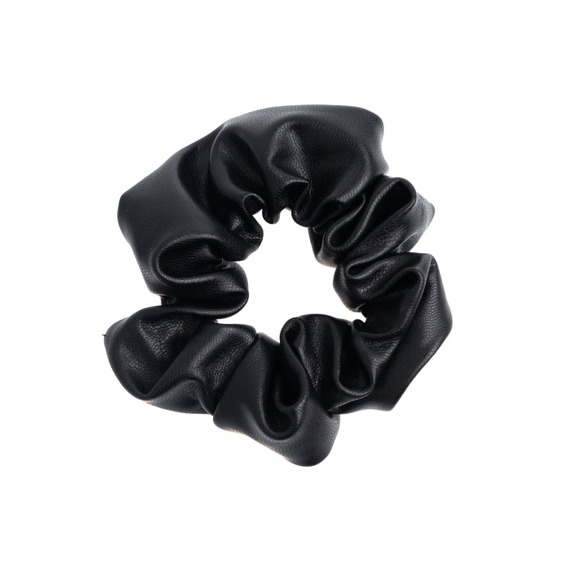 LEATHER SCRUNCHIE BLACK