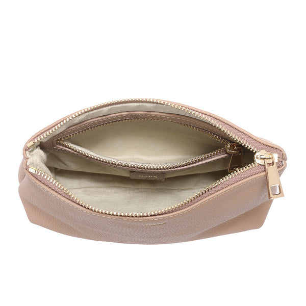 LEATHER STANDING POUCH CAMEL