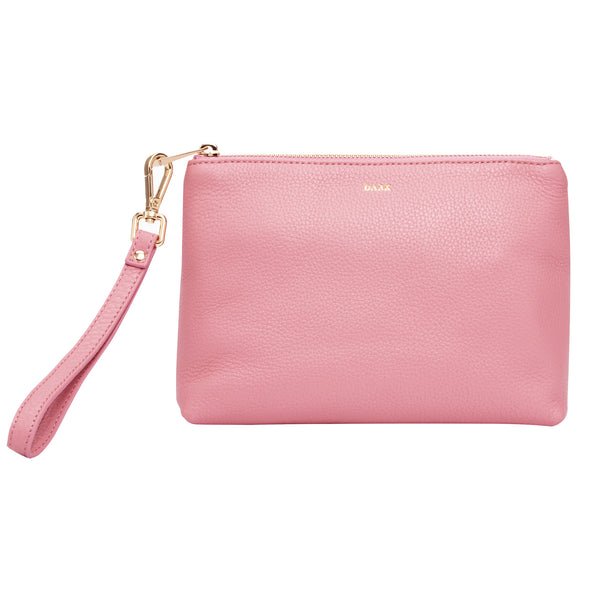 LEATHER STANDING POUCH PALE PINK