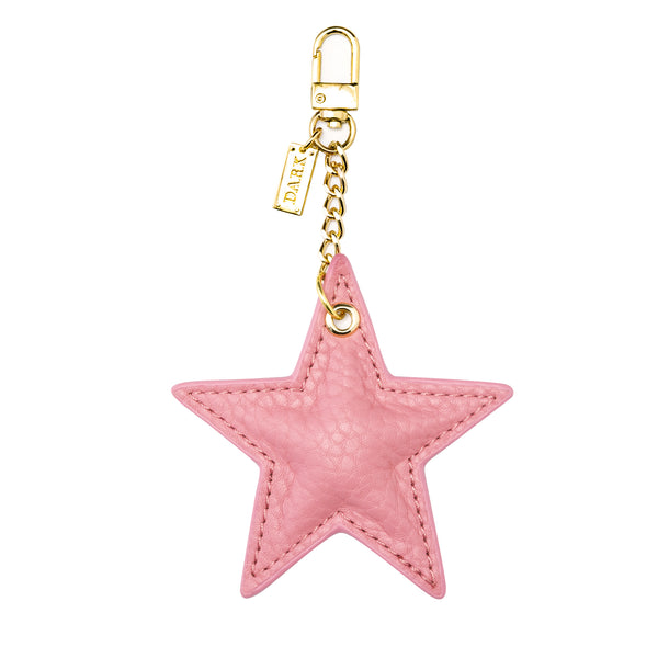 LEATHER STAR CHARM PALE PINK