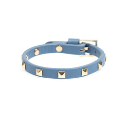 LEATHER STUD BRACELET MINI 501 BLUE