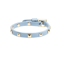 LEATHER STUD BRACELET MINI COOL BLUE
