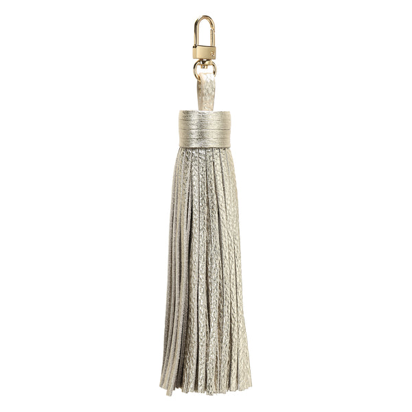 LEATHER TASSEL GOLD