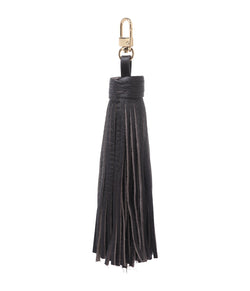 LEATHER TASSEL CHOCOLATE BROWN