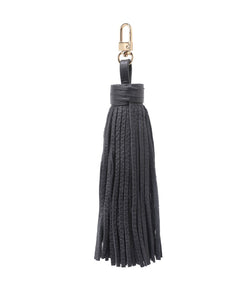 LEATHER TASSEL DARK GREY