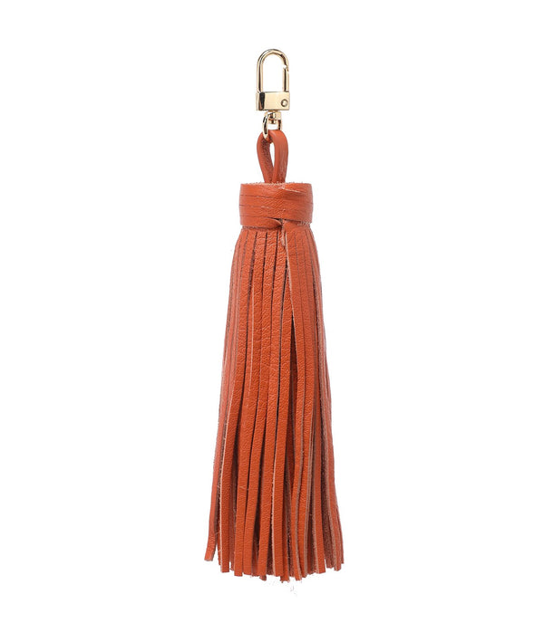 LEATHER TASSEL ORANGE
