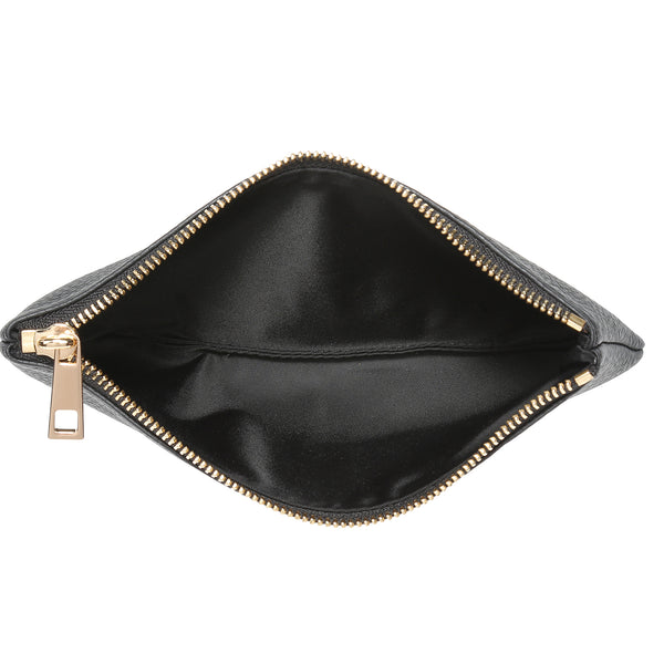 LEATHER TOOL POUCH BLACK W/ GOLD