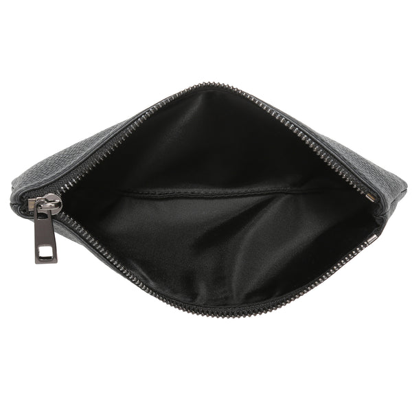 LEATHER TOOL POUCH BLACK W/ GUN