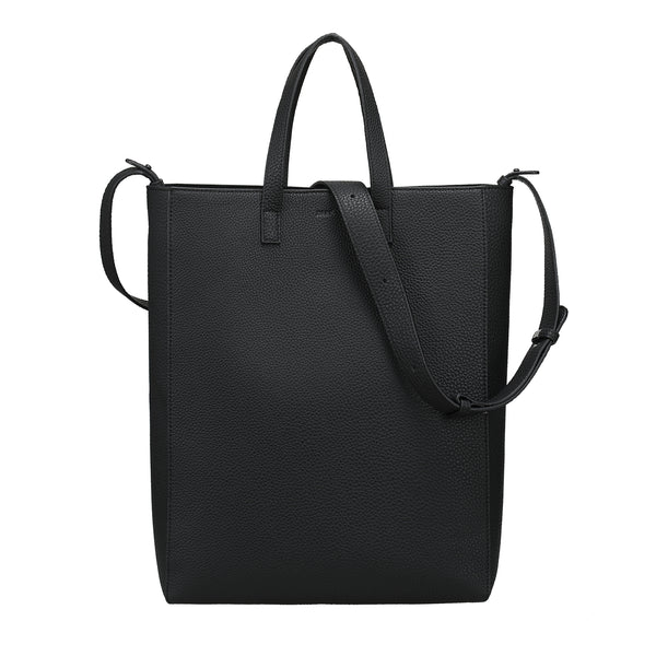 LEATHER TOTE GRAIN BLACK W/GUN