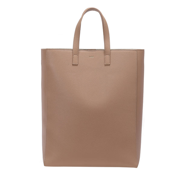 LEATHER TOTE GRAIN CAMEL