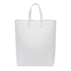 LEATHER TOTE GRAIN WHITE