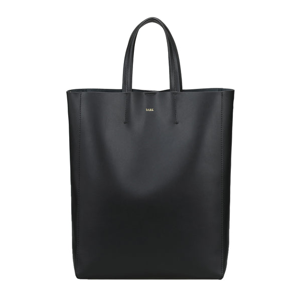 LEATHER TOTE NAPPA BLACK W/GOLD