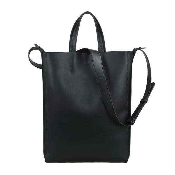 LEATHER TOTE NAPPA BLACK W/GUN