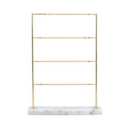 MARBLE EARRING DISPLAY L WHITE