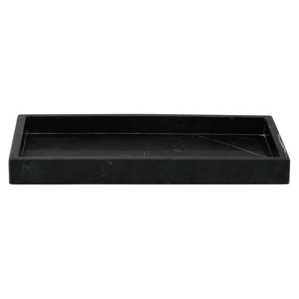 MARBLE TRAY WIDE BLACK