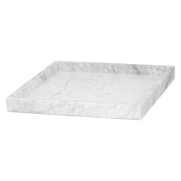 MARBLE TRAY XL WHITE