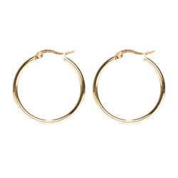 MEDIUM HOOP GOLD