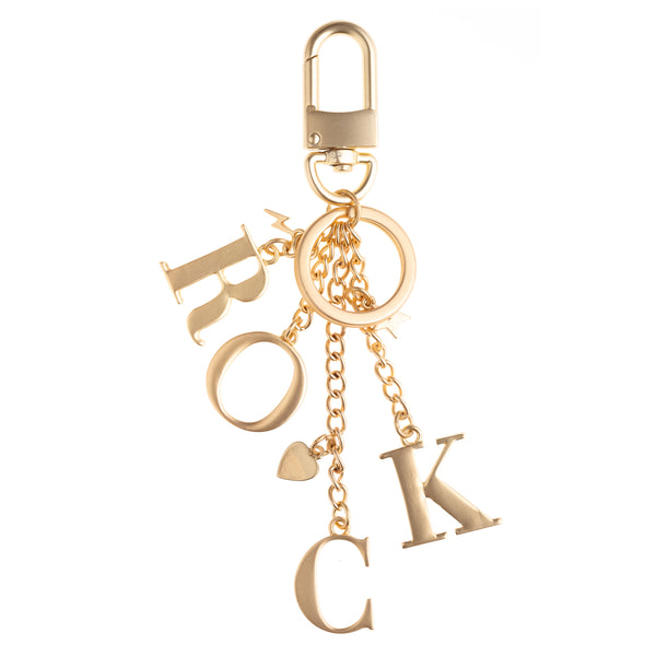 METAL ROCK CHARM MATTE GOLD