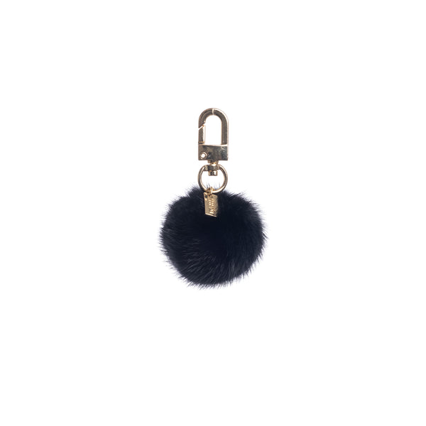 MINK BALL CHARM BLACK