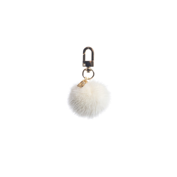 MINK BALL CHARM WHITE