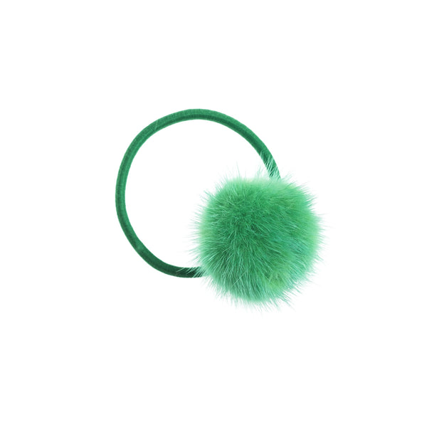 MINK HAIR POM GREEN