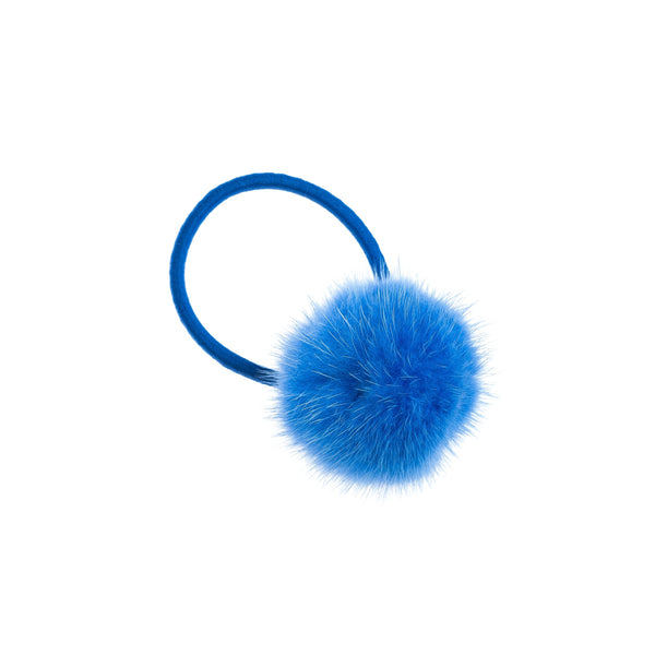 MINK HAIR POM STRONG BLUE