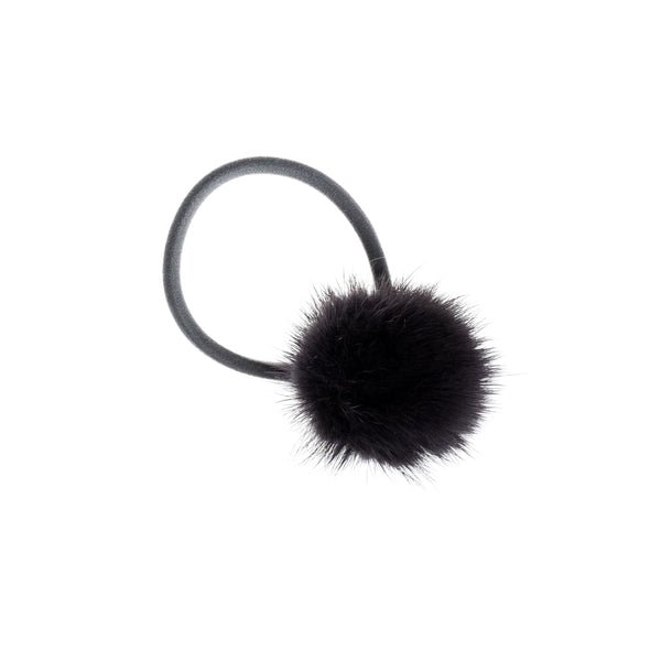 MINK HAIR POM CHARCOAL
