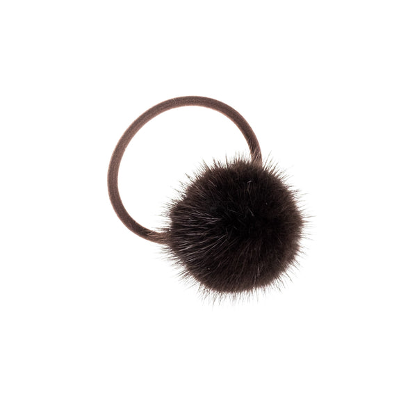 MINK HAIR POM CHOCOLATE BROWN