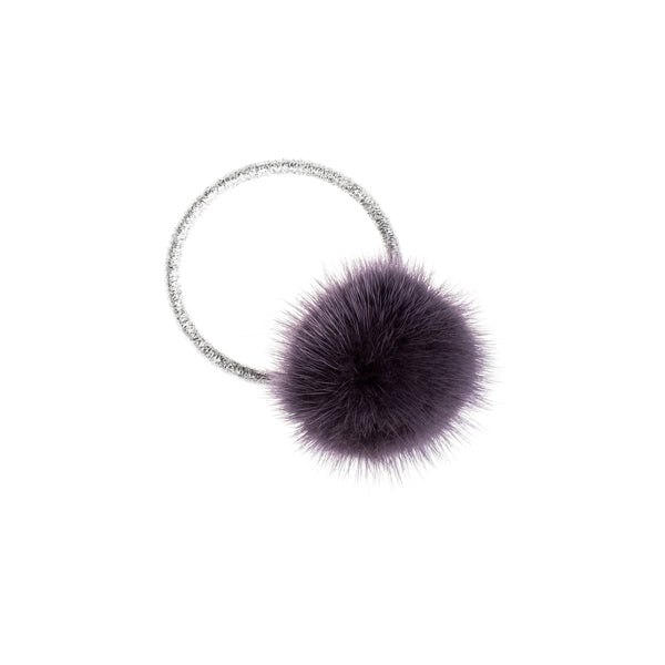 MINK HAIR POM DUSTY PURPLE